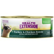 Health Extension Turkey & Chicken Entree Canned Cat Food, 5.5-oz, case of 24
