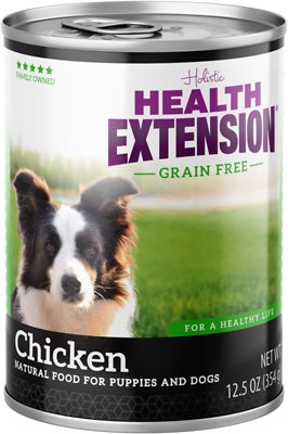 Health Extension Grain Free Chicken Canned Dog Food 55 Oz Case Of