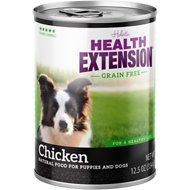 Health Extension Grain-Free Chicken Canned Dog Food, 13.2-oz, case of 12