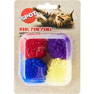 Ethical Pet Wool Pom Poms Cat Toy with Catnip
