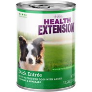 Health Extension Grain-Free Duck Entree Canned Dog Food, 13.2-oz, case of 12