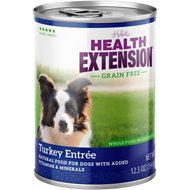 Health Extension Grain-Free Turkey Entree Canned Dog Food, 13-oz, case of 12