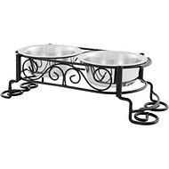 Ethical Pet Mediterranean Double Diner Elevated Pet Bowls, Small