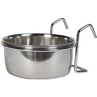 Ethical Pet Stainless Steel Coop Cup Wire Hanger Kennel Pet Bowl, 10-oz