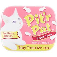 Chomp Pit'r Pat Liver Flavored Breath Freshener Cat Treats, 0.43-oz tin
