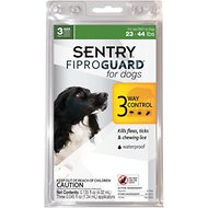 Sentry FiproGuard Flea & Tick Squeeze-On for Dogs, 23-44 lbs, 3 treatments