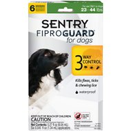 Sentry FiproGuard Flea & Tick Squeeze-On for Dogs, 23-44 lbs, 6 treatments