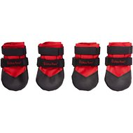 Ultra Paws Durable Dog Boots, 4 count, Red, Small