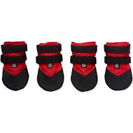 Ultra Paws Durable Dog Boots, 4 count, Red, Medium