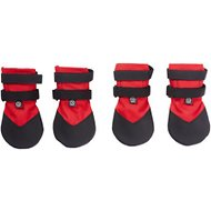 Ultra Paws Durable Dog Boots, 4 count, Red, Large