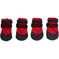 Ultra Paws Rugged Dog Boots, 4 count, Red, Medium