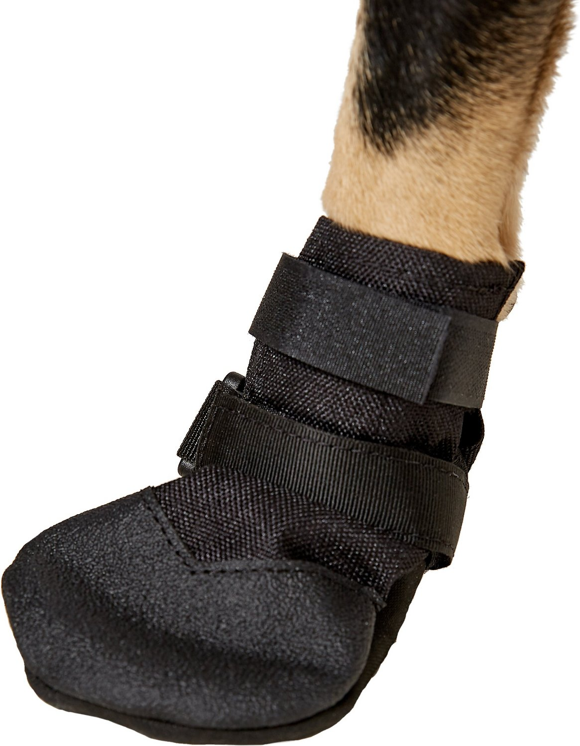 Ultra Paws Rugged Dog Boots Black 4 Count Medium