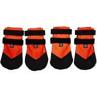 Ultra Paws Rugged Dog Boots, 4 count, Orange, Large