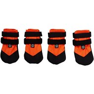 Ultra Paws Rugged Dog Boots, 4 count, Orange, Medium