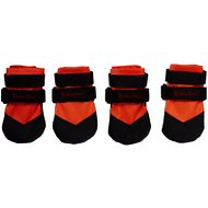 Ultra Paws Rugged Dog Boots, 4 count, Orange, Small