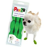 Pawz Waterproof Dog Boots, Apple Green, Tiny, 12 count