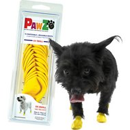Pawz Waterproof Dog Boots, 12 count, Yellow, XX-Small