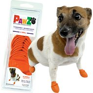Pawz Waterproof Dog Boots, Orange, X-Small, 12 count