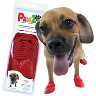 Pawz Waterproof Dog Boots, 12 count, Red, Small