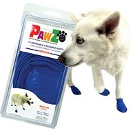 Pawz Waterproof Dog Boots, 12 count, Blue, Medium