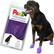 Pawz Waterproof Dog Boots, 12 count, Purple, Large