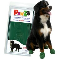 Pawz Waterproof Dog Boots, Green, X-Large, 12 count
