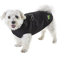 Pawz 1Z Coat with Built-In Dog Harness, Black, Size 10