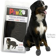 Pawz Waterproof Dog Boots, Black, X-Large, 12 count