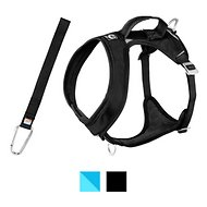 Kurgo Go-Tech Adventure Dog Harness with Seatbelt Loop, Black, Medium