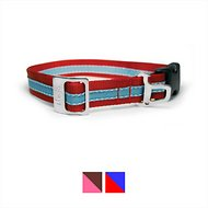 Kurgo Wander Nylon Dog Collar with Bottle Opener, Red/Blue, Small