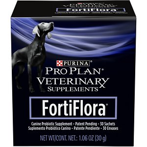 Purina Pro Plan Veterinary Diets FortiFlora Probiotic Gastrointestinal Support Dog Supplement, 180 packets