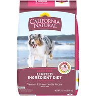 California Natural Adult Limited Ingredient Grain Free Venison & Green Lentils Recipe Dog Food, 13-lb bag