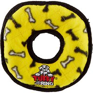 Tuffy's Junior Ring Dog Toy, Yellow Bones