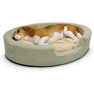 K&H Pet Products Thermo-Snuggly Sleeper Bolster Cat & Dog Bed, Sage