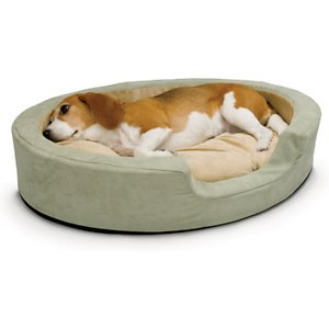 K&H Pet Products Thermo-Snuggly Sleeper Bolster Cat & Dog Bed