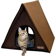 K&H Pet Products Outdoor Unheated Multi-Kitty A-Frame House