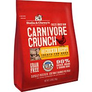 Stella & Chewy's Carnivore Crunch Cage-Free Chicken Recipe Freeze-Dried Dog Treats, 3.25-oz bag