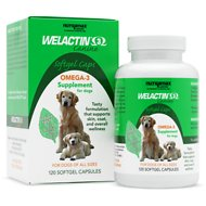 Nutramax Welactin Canine Omega-3 Softgel Capsules Dog Supplement, 120 count