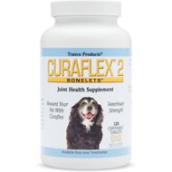 Travco Products Curaflex 2 Joint Health Chewable Tablets Dog Supplement, 120 chewable tablets