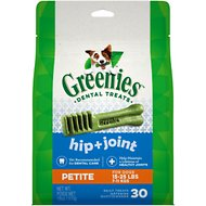 Greenies Hip & Joint Care Petite Dental Dog Treats, 30 count