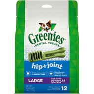 Greenies Hip & Joint Care Large Dental Dog Treats, 12 count