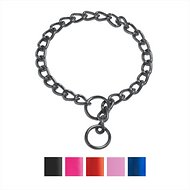 Platinum Pets Chain Training Dog Collar, Black Chrome, 22-inch x 4 mm
