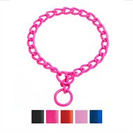 Platinum Pets Chain Training Dog Collar, Bubblegum Pink, 22-inch x 4 mm