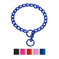Platinum Pets Chain Training Dog Collar, Sapphire Blue, 18-inch x 3 mm
