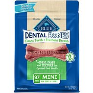 Blue Buffalo Dental Bones All Natural Mini Dog Treats, 27-oz bag