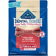 Blue Buffalo Dental Bones All Natural Regular Dog Treats, 27-oz bag