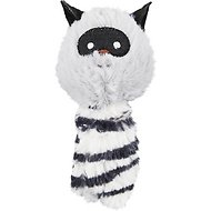 JW Pet Cataction Plush Raccoon with Catnip Cat Toy, Gray