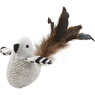 JW Pet Cataction Black & White Bird with Catnip Cat Toy