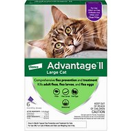 Advantage II Flea Treatment for Large Cats Over 9 lbs, 6 treatments