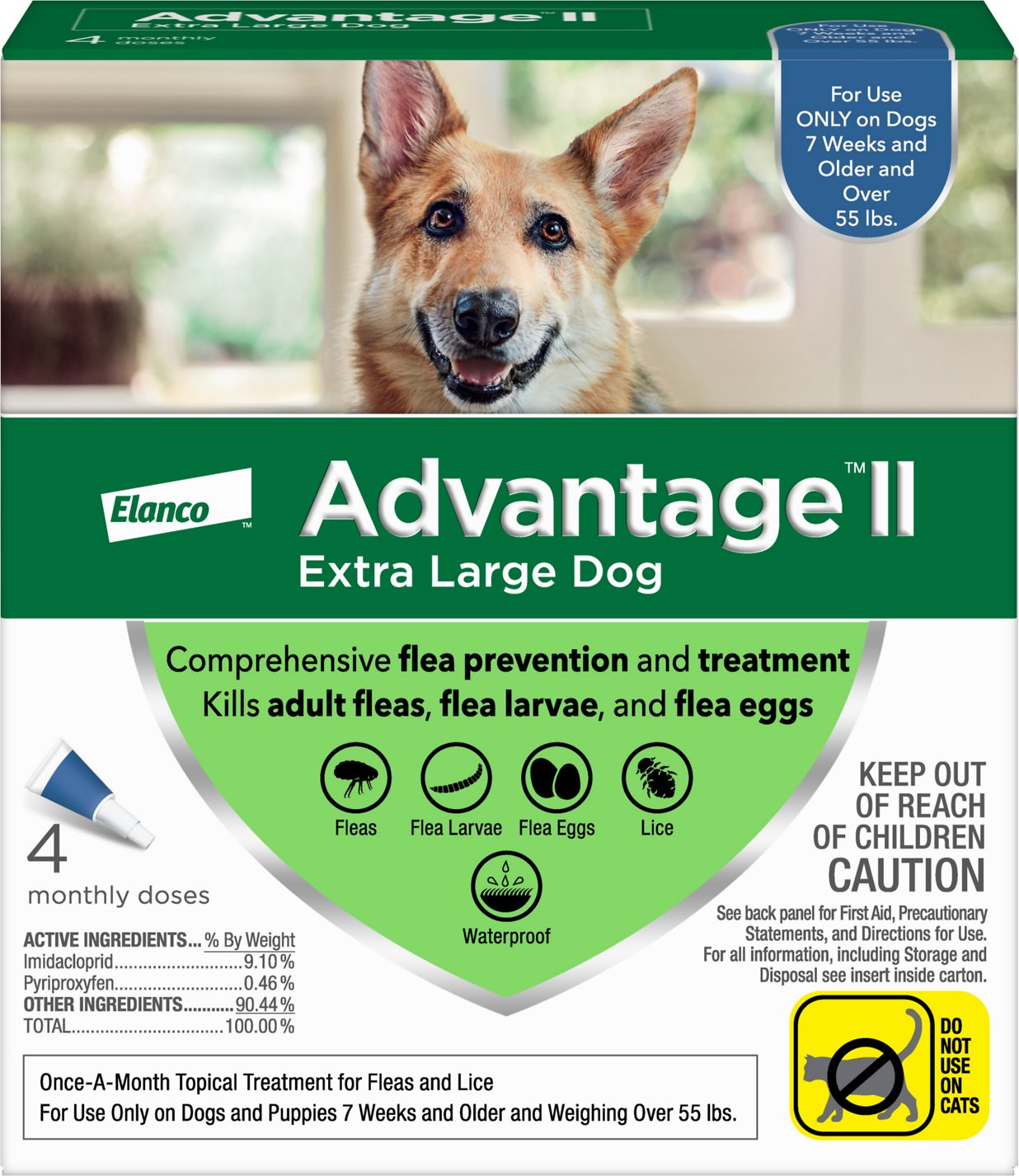 Advantage Ii Flea Treatment For Extra Large Dogs Over 55 Lbs 4